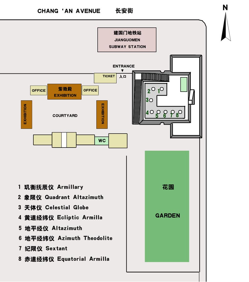 Plan of the site. © Authorised for non-profitable