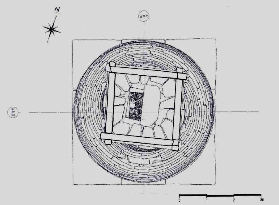 Floor plan of the roof. Drawing © National Resear