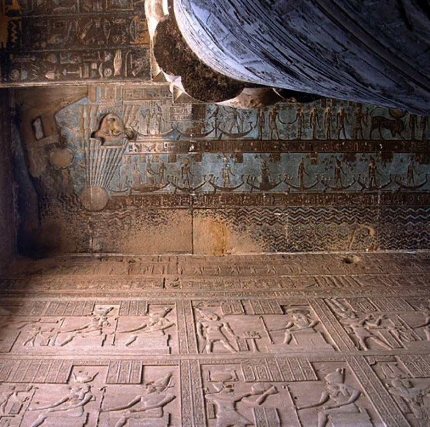 The astronomical ceiling of the hypostyle hall. Ph