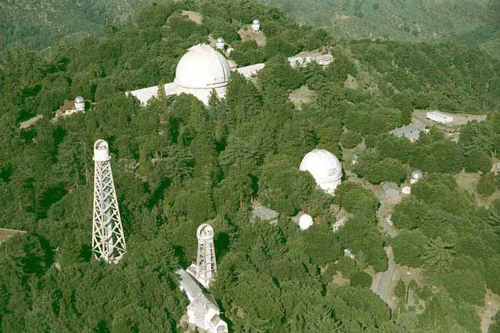 Aerial view of the Mount Wilson Observatory: In th