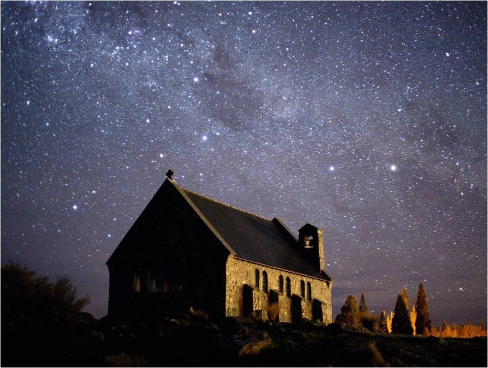 Starlight over the Church of the Good Shepherd, Te