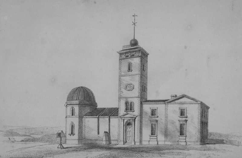 Sydney Observatory in 1858. Drawing from William S