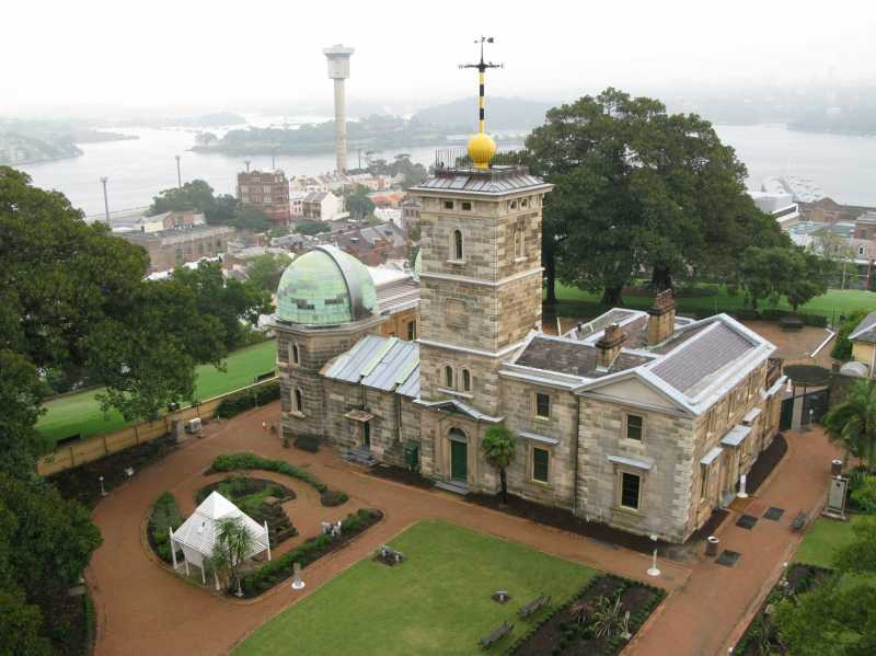 An aerial view of Sydney Observatory in 2009. Phot