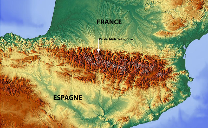 <strong>Fig. 1</strong>. Locality of the Pic du Mi