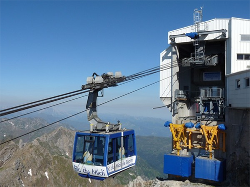 <strong>Fig. 39</strong>. The new cable car statio