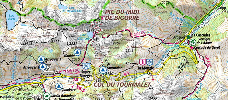 <strong>Fig. 2</strong>. Extract from the IGN map,