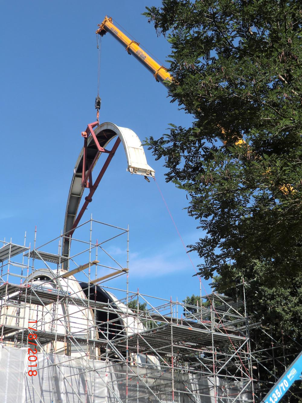Restoration of the Large Refractor of Hamburg Obse