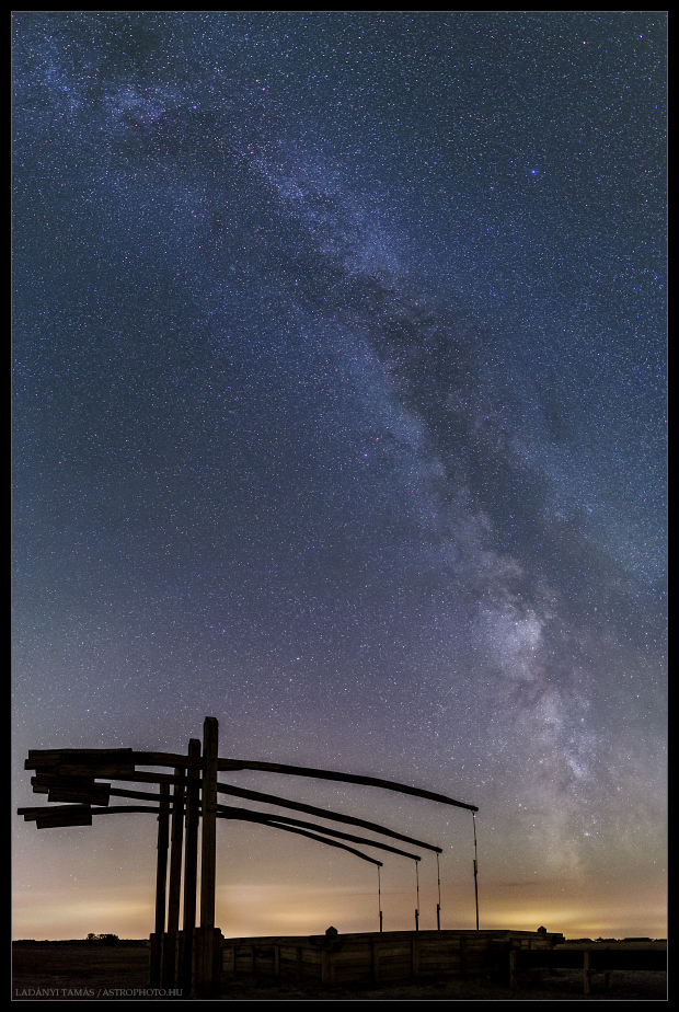 The Milky Way behind a characteristic Hungarian sw
