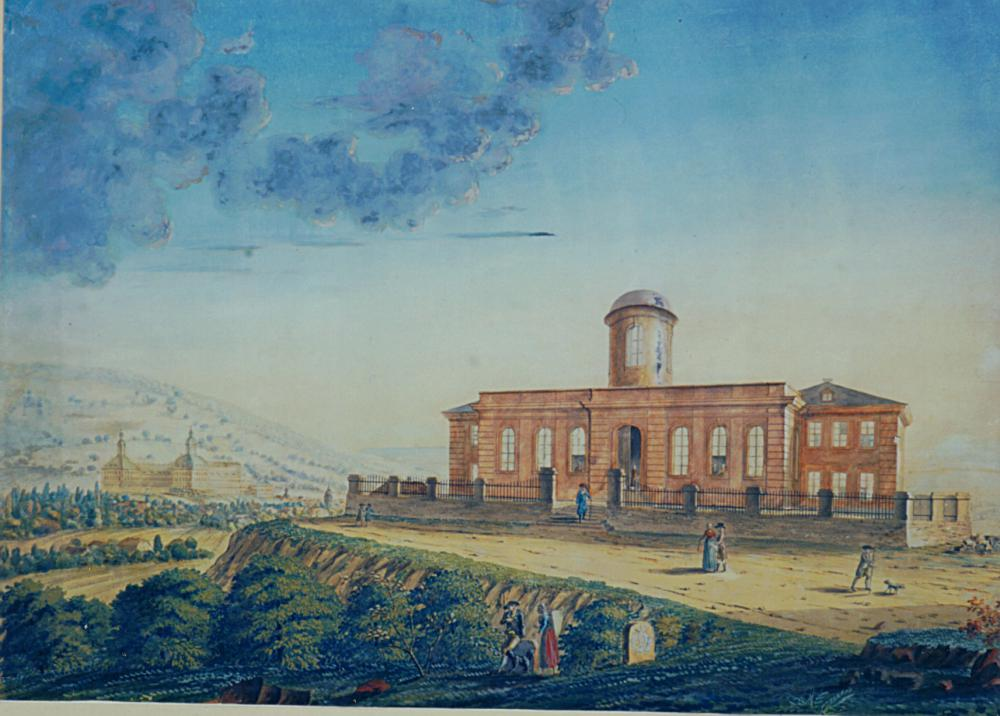 Seeberg observatory Gotha, around 1800 (aquarelle,