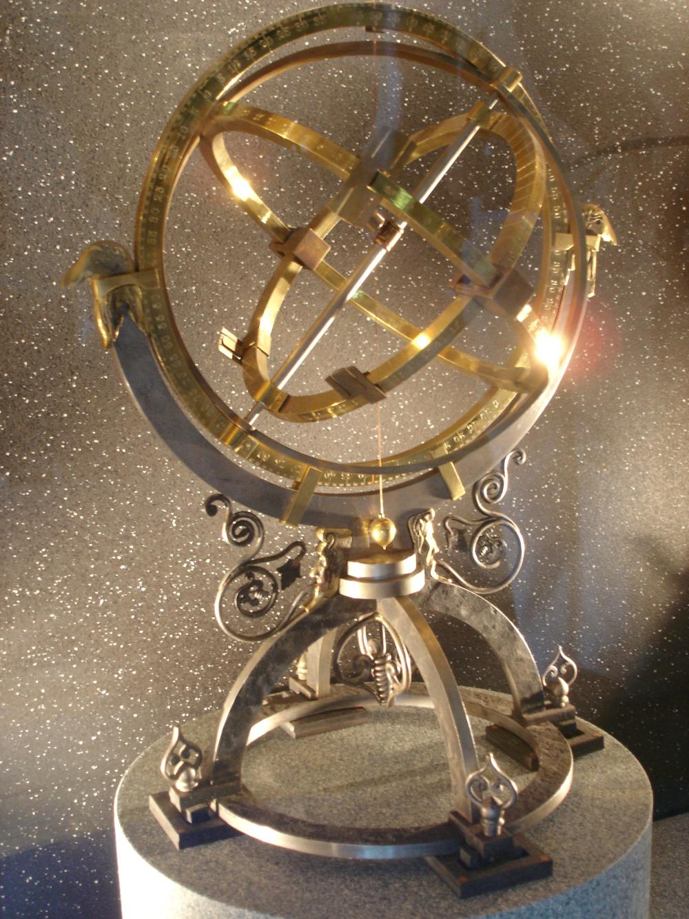 Armillary Sphere, Tycho's observatory in Castle