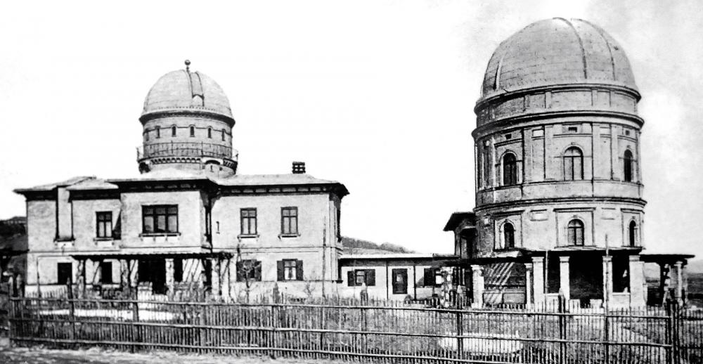 The Kuffner observatory in 1891, immediately after
