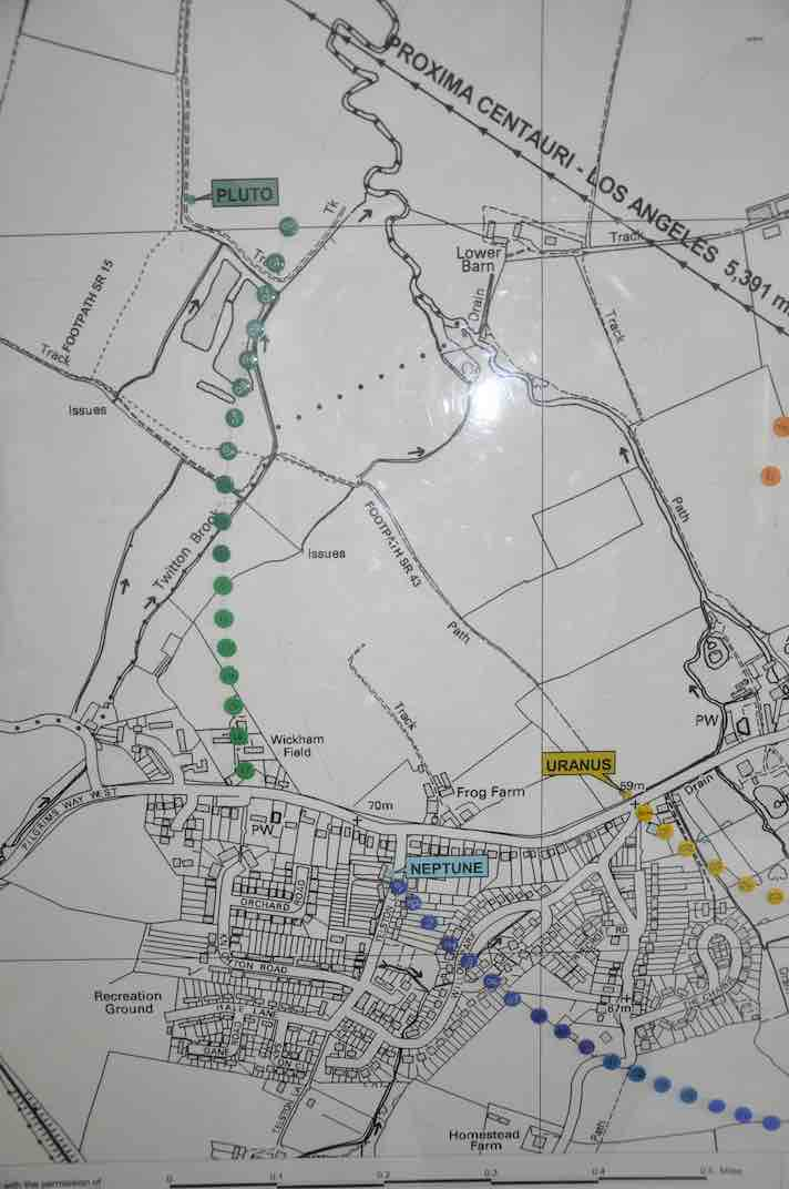 Map in the heritage centre tracking the current po