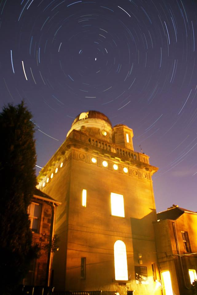 Coats Observatory with star-trail, taken during on