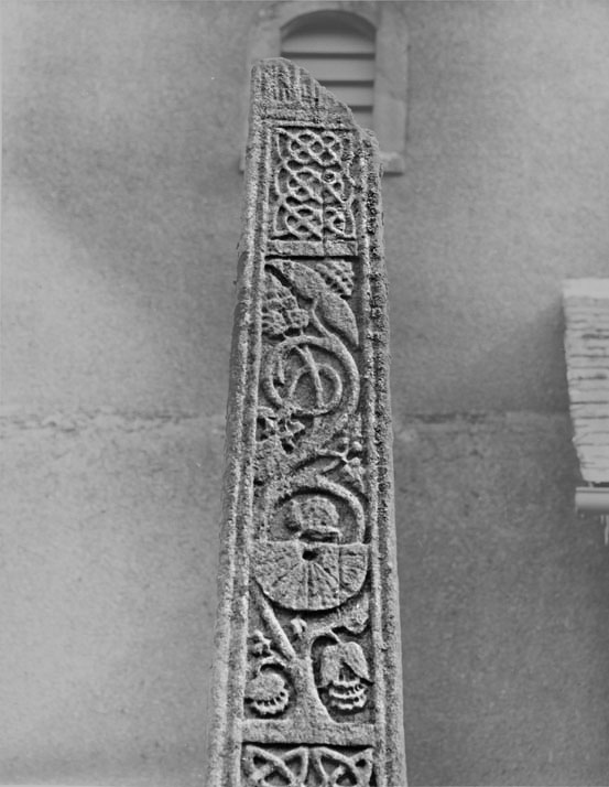Sundial on Bewcastle Cross (late 7th century). Pho