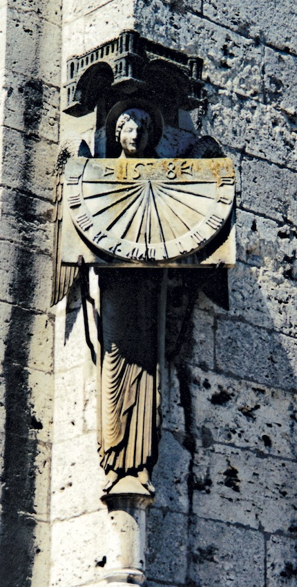 Sundial at Chartres Cathedral. Photograph © C.H.