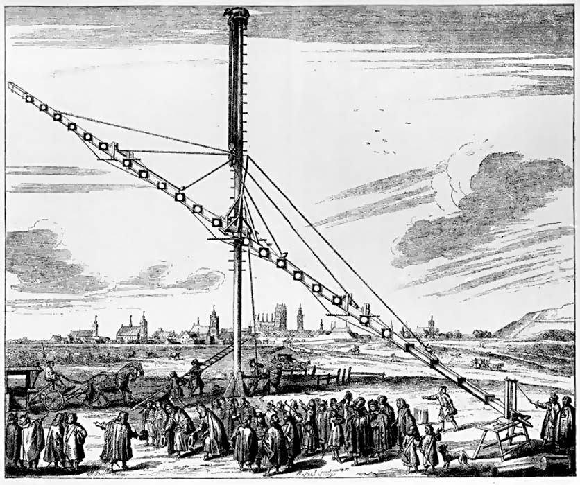 The 140ft telescope of Johannes Hevelius (from <i>