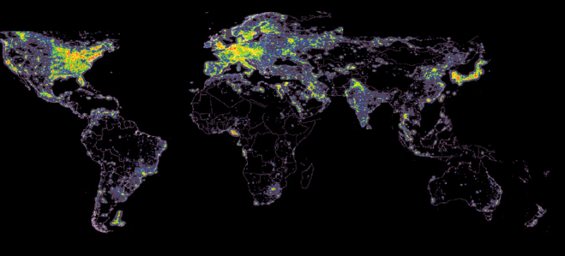 <i>The World Atlas of Artificial Night Sky Brightn