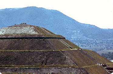 Pyramid of the Sun, Teotihuacan, Mexico. Photograp