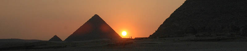 The pyramids of Giza, Egypt. Photograph: Clive Ruggles