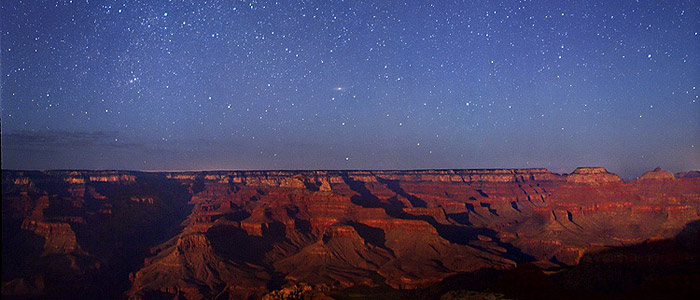 Moonlight shines on the Grand Canyon, in the United States. Wally Pacholka, TWAN (Twanight.org)