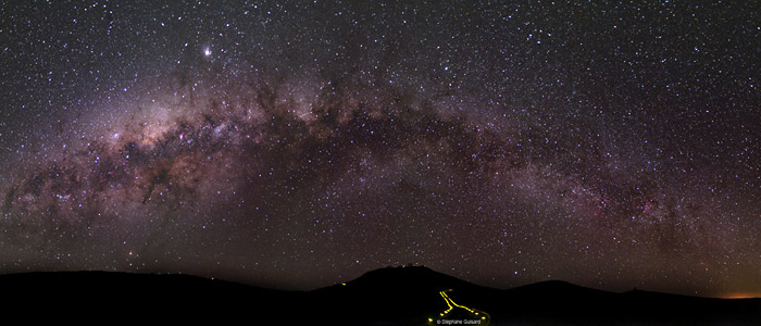 The Milky Way above the road to Paranal Observatory, Chile; an astronomers' paradise in the Atacama Desert. Stephane Guisard, TWAN (twanight.org)